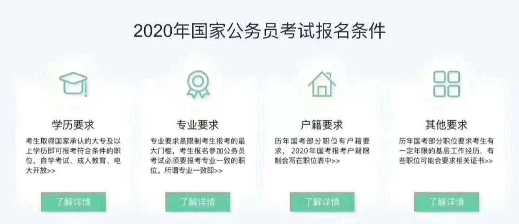 2020年公务员考试报名条件